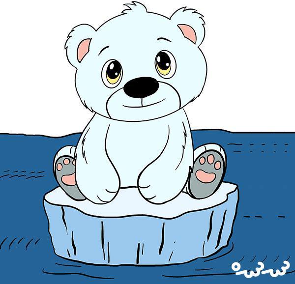 """قصه """"چرا دماغ خرس های قطبی سیاه است"""""""