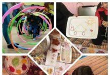 کارگاه بازی با ماکارانی رنگی