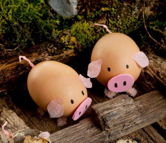 تزیین تخم مرغ به شکل جوجه ، خوک ، خرگوش و گوسفند!
