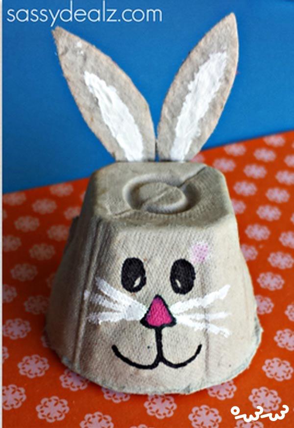 کاردستی خرگوش با شانه تخم مرغ