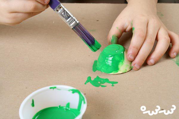 کاردستی با شانه تخمه مرغ برای کودکان