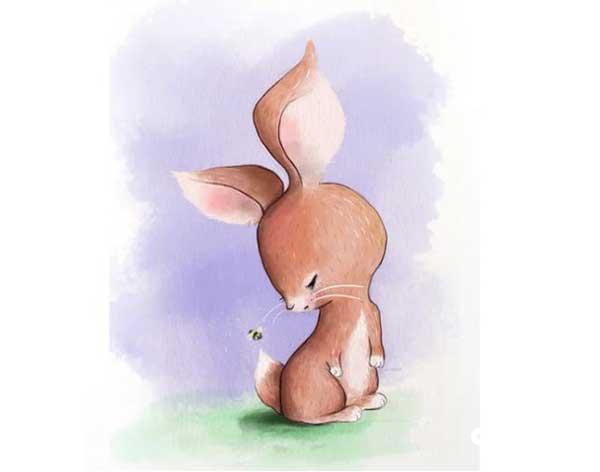 "قصه ""خرگوش کوچولو و زنبور"""