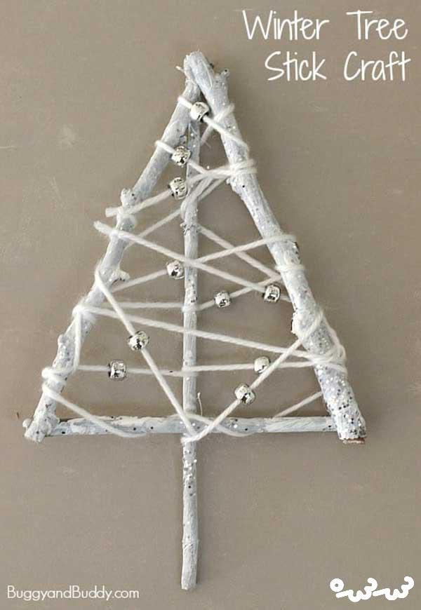 کاردستی درخت زمستانی