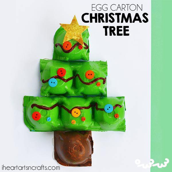 کاردستی درخت کریسمس با کاغذ رنگی