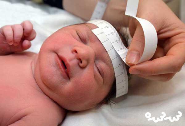 اندازه دور سر نوزاد هنگام تولد