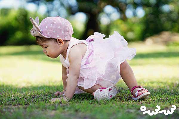 ترس کودک از راه رفتن