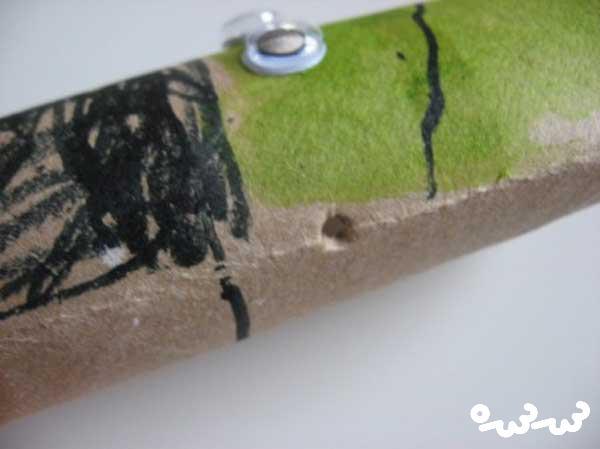 کاردستی ادمک ترسناک با لوله دستمال کاغذی