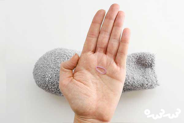 کاردستی خرگوش با جوراب