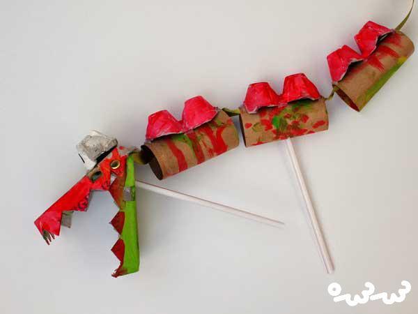 کاردستی اژدهای خیمه شب بازی