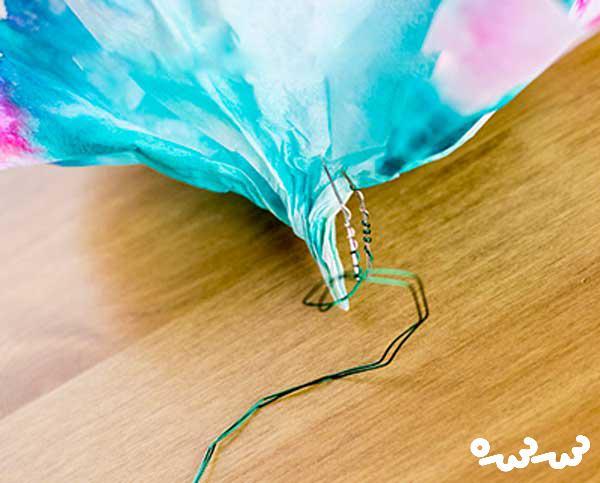 کاردستی گل کاغذی با طرح مدار